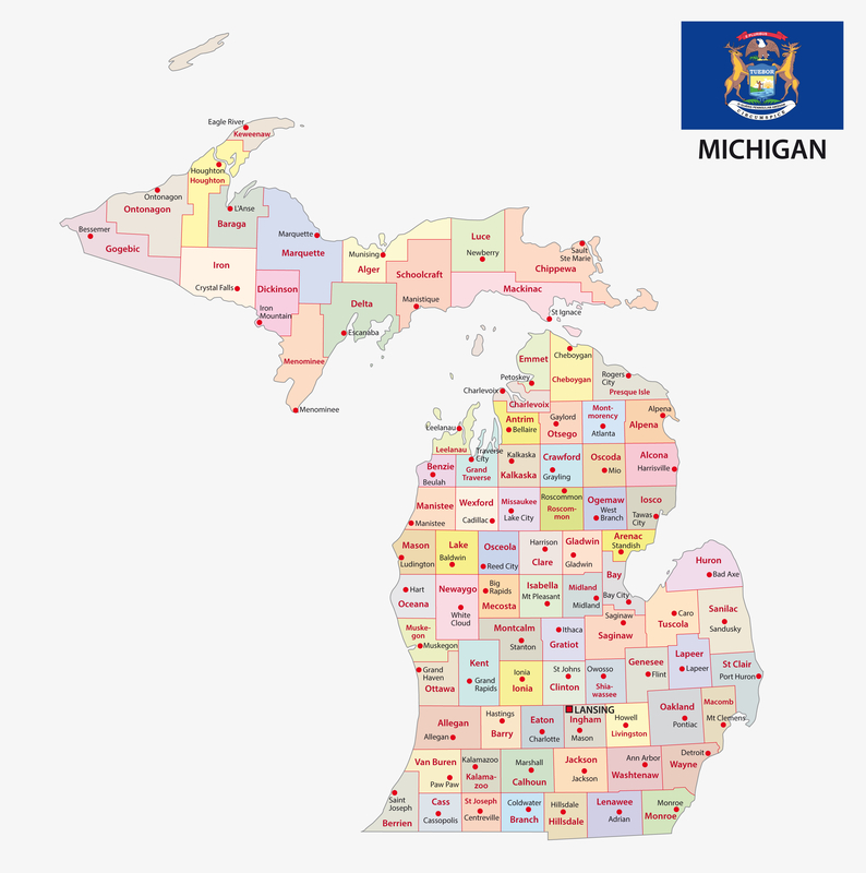 Flint MI City Map Dumpster Rentals